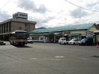 鹿角花輪駅と秋田県北バス